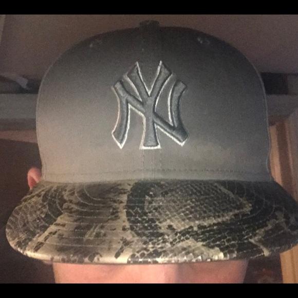 6ee9d3b8 New Era Accessories   Snake Skin Brim Newyork Yankees Hat   Poshmark